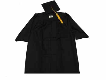 Cap & Gown (Numbers In 'Select Size' Denote Height) (SKU 100121476)
