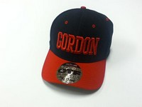 Fitted Hat: Black W/ Red Gordon