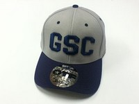 Fitted Hat: Gray W/ Navy G.S.C Logo